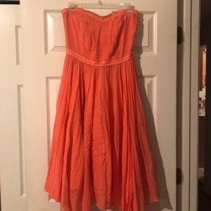 Jcrew women's soft peach clrd sz 8 summer dress nw